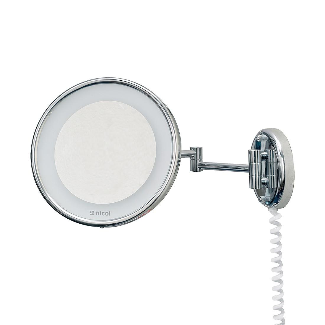 Wandspiegel Jenny   chroomkleurig LED verlichting 5 voudige vergroting_ Nicol Wohnausstattungen