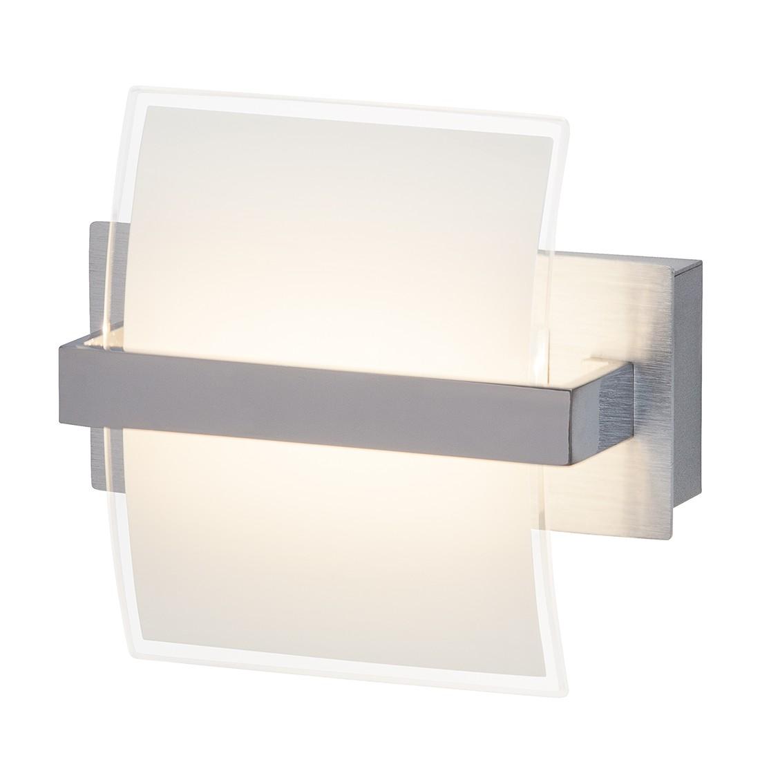energie  A+, Wandspot Trust - metaal/zilverkleurig glas 1 lichtbron, Brilliant