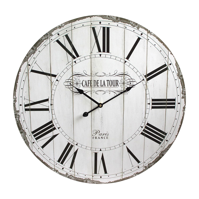 Home 24 - Horloge auray - blanc, maison belfort