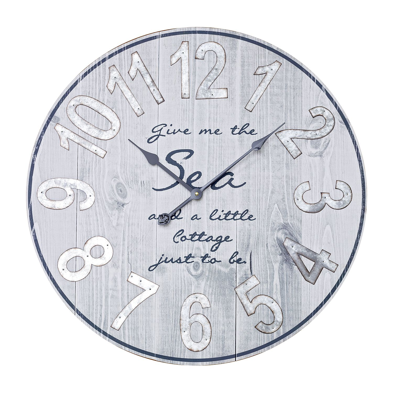 Wanduhr number plates holz inspirierendes for Ecksofa yola