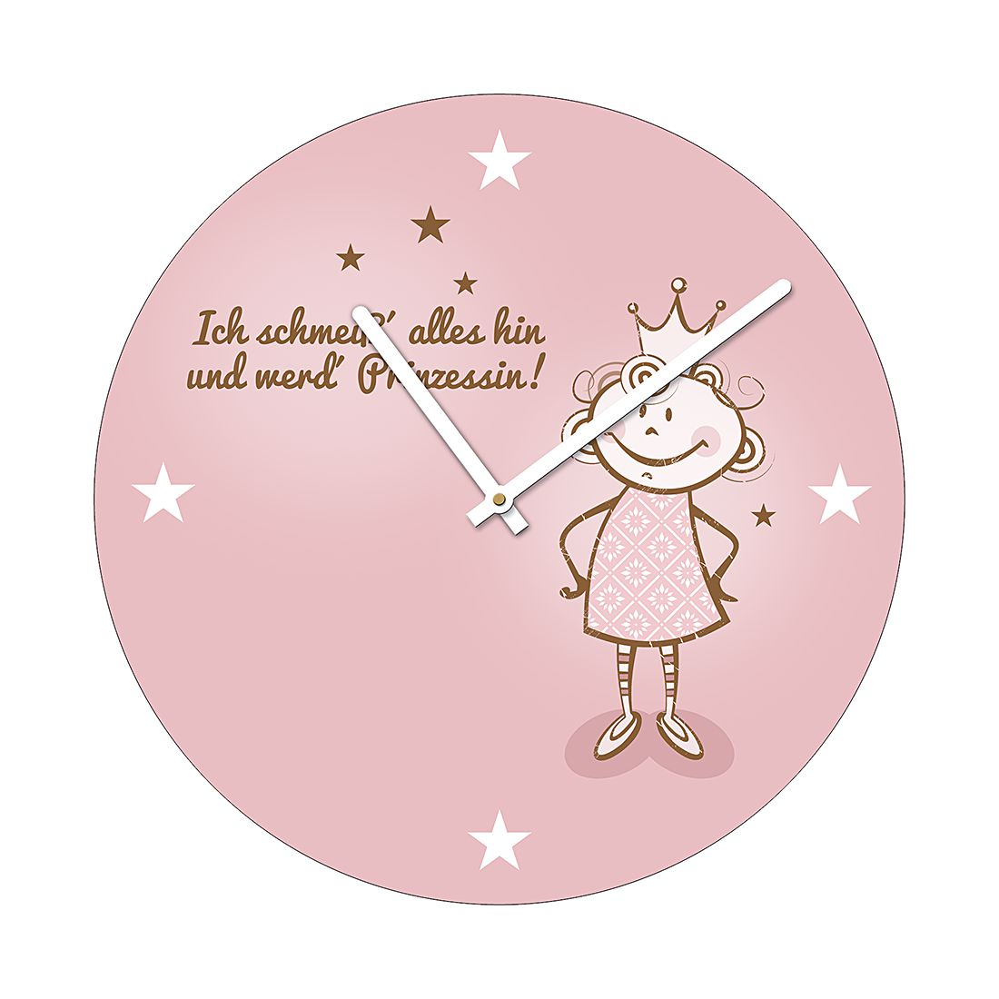 Image of Color orologio a parete Sarò una principessa, Pro Art