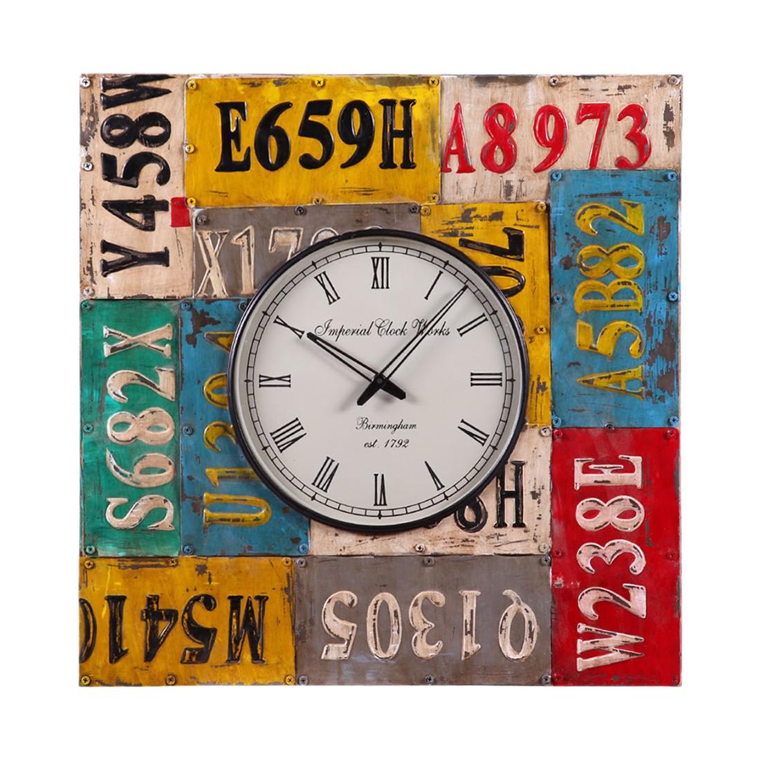Horloge murale lynton m tallique multicolore ars manufacti par ars manufacti chez home24 fr for Horloge murale multicolore