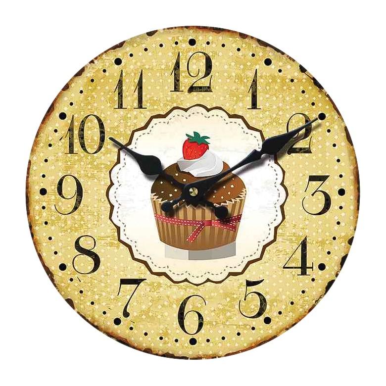 Home 24 - Horloge muffin - jaune, fredriks