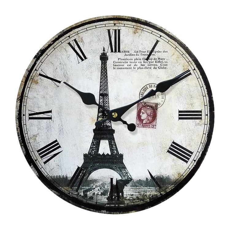 Wandklok Paris I - zwart/wit, Red Living