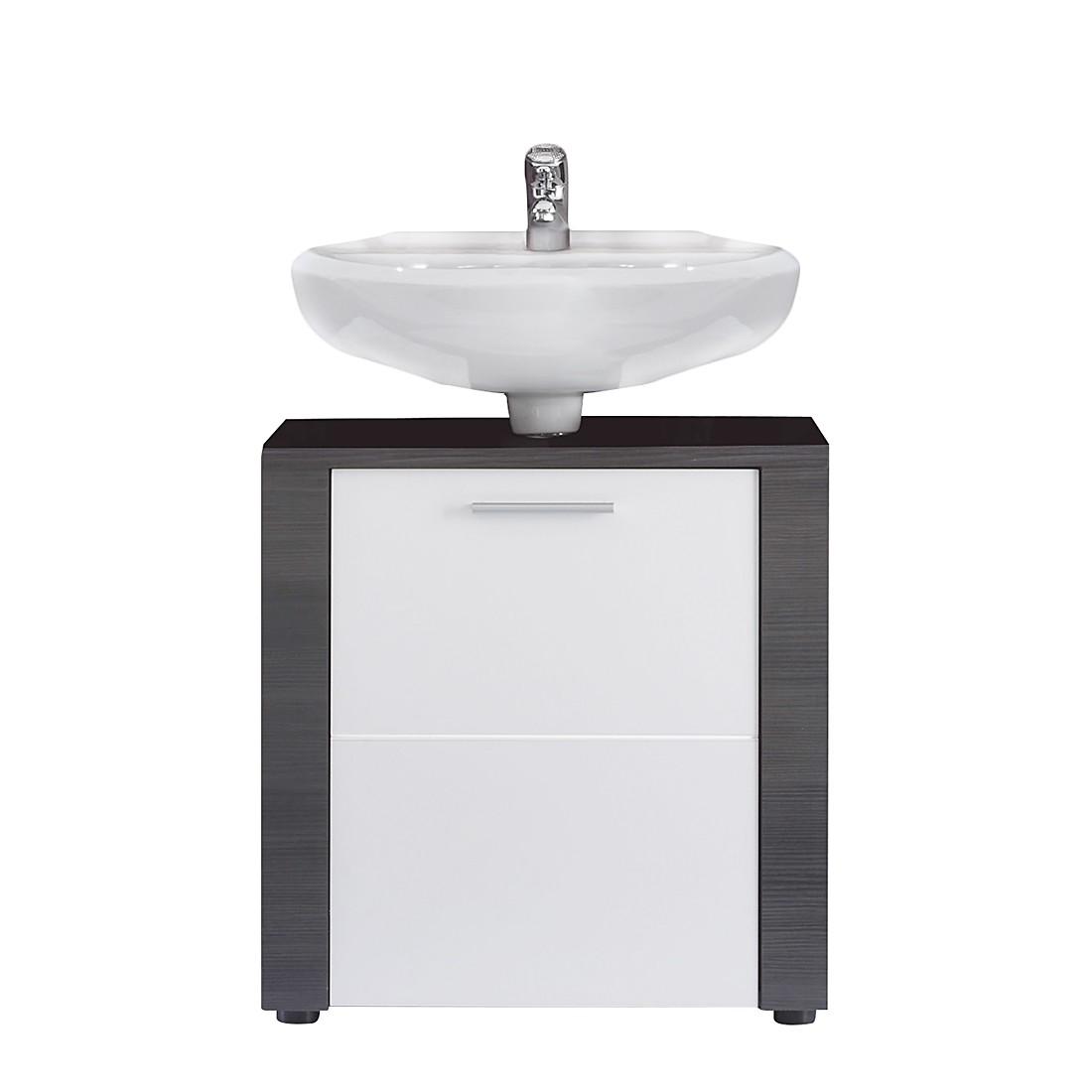 Armadietto da lavabo Cito - Effetto frassino grigio/Bianco sotto lavandino, Trendteam