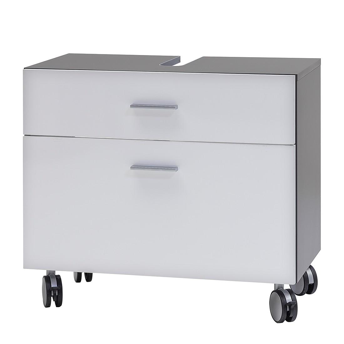 Armadietto da lavabo Grena - Bianco lucido/Grigio basalto lavandino, Schildmeyer