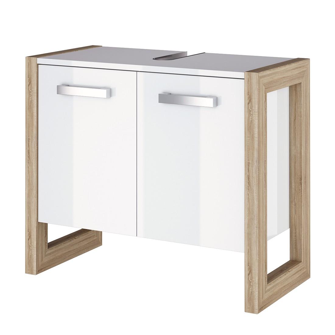 Armadietto da lavabo Kolind - Bianco lucido lavandino, Schildmeyer