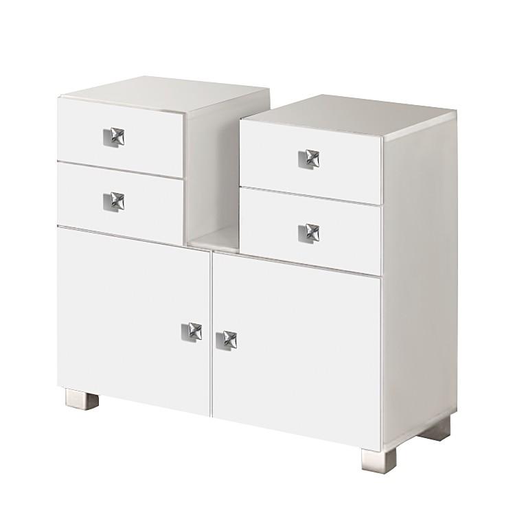 Mobile da lavabo Montreal - Con 4 cassetti bianco lucido Bianco, Schildmeyer