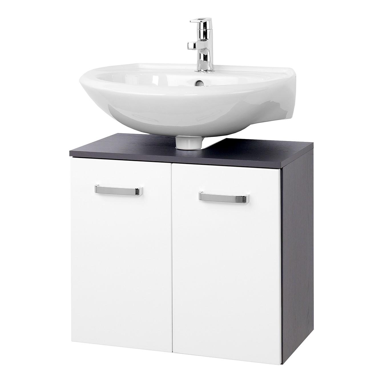 Armadietto da lavabo Zeehan I - Bianco/Grigio 60 cm, Giessbach