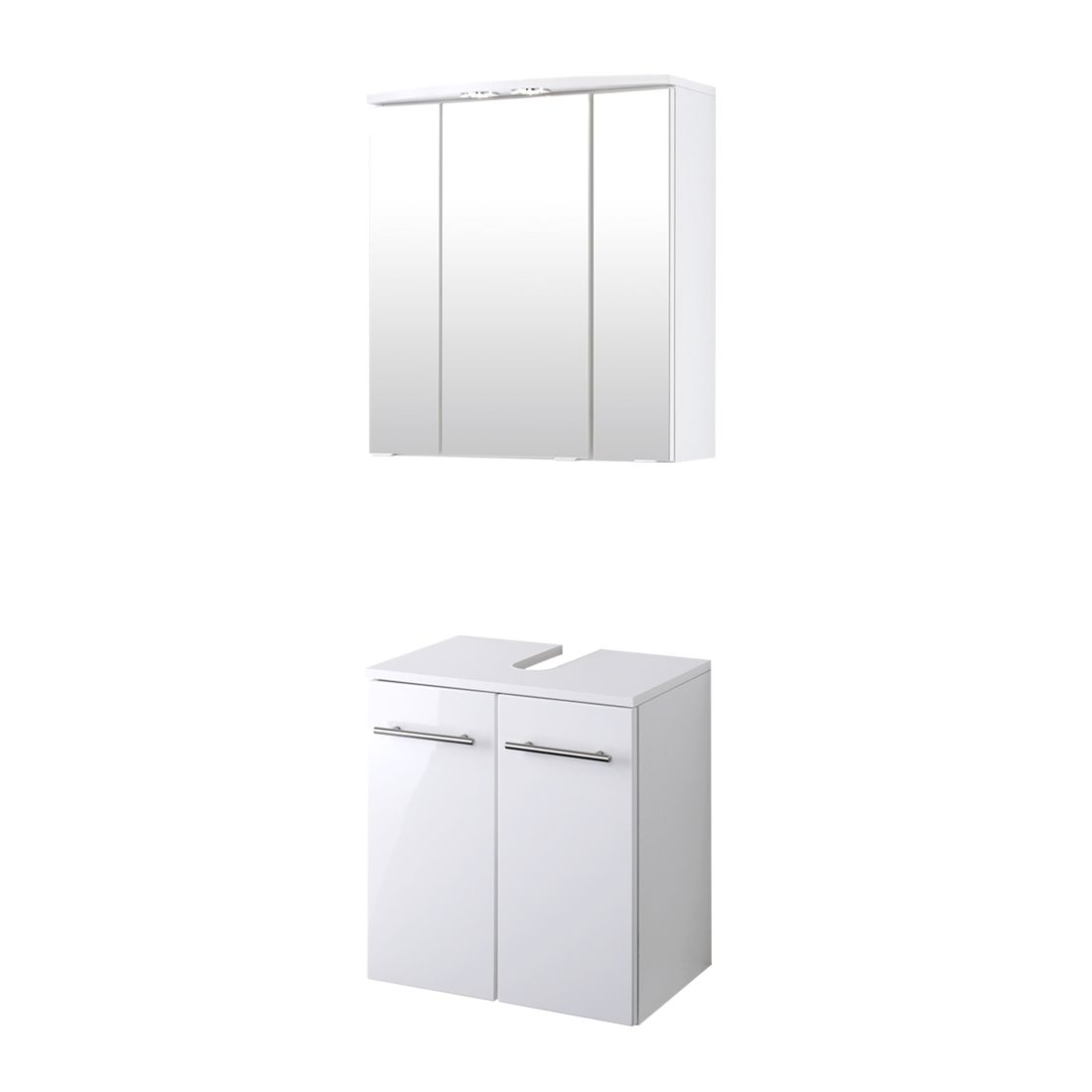 Home 24 - Meuble lavabo kopenhagen - blanc brillant / blanc, giessbach