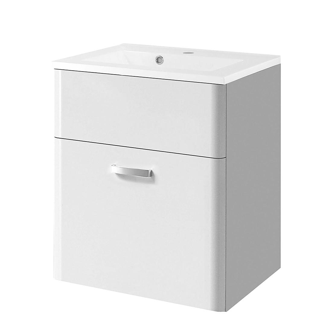 Armadietto da lavabo Barcelona - Bianco lucido, Giessbach