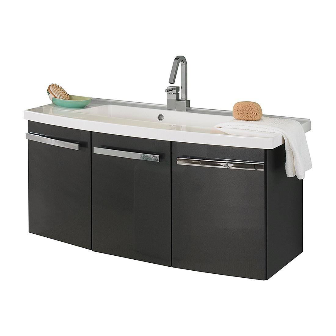Wastafel Bina   antracietkleurig_ 110cm_ Aqua Suite