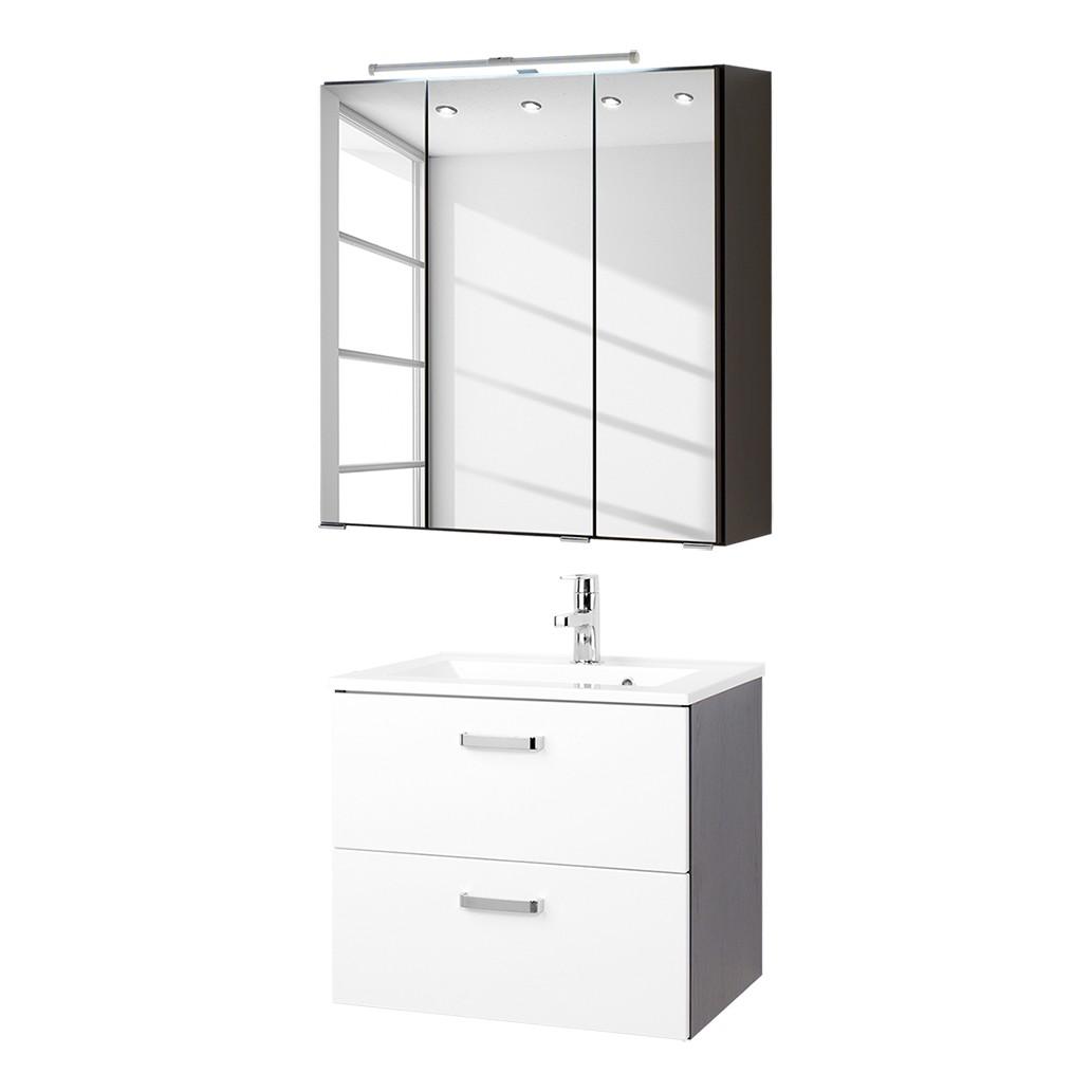 Home 24 - Ensemble pour lavabo zeehan (2 éléments) - blanc / gris 60 cm, fredriks