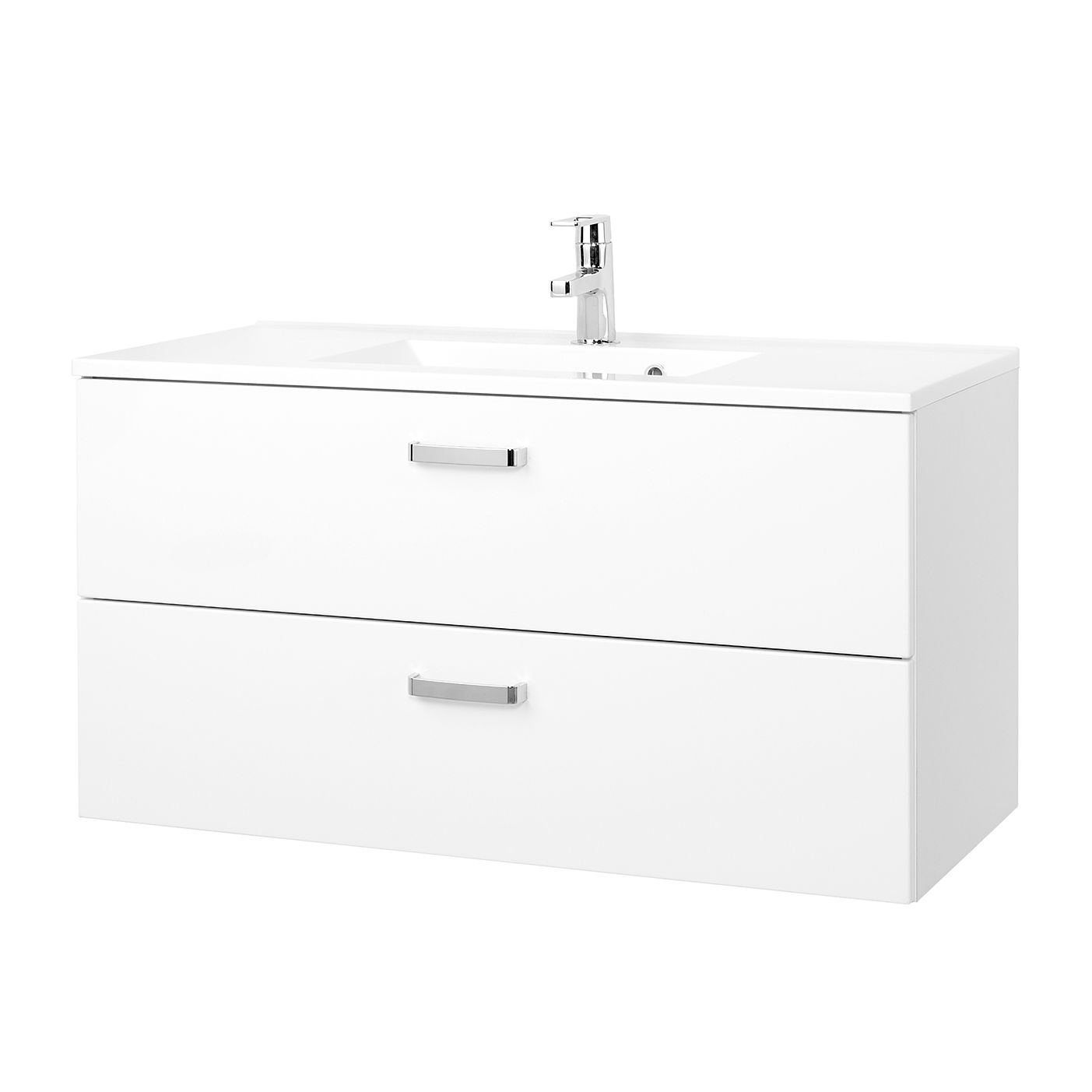 Mobile lavabo Zeehan - Bianco - 100 cm, Giessbach