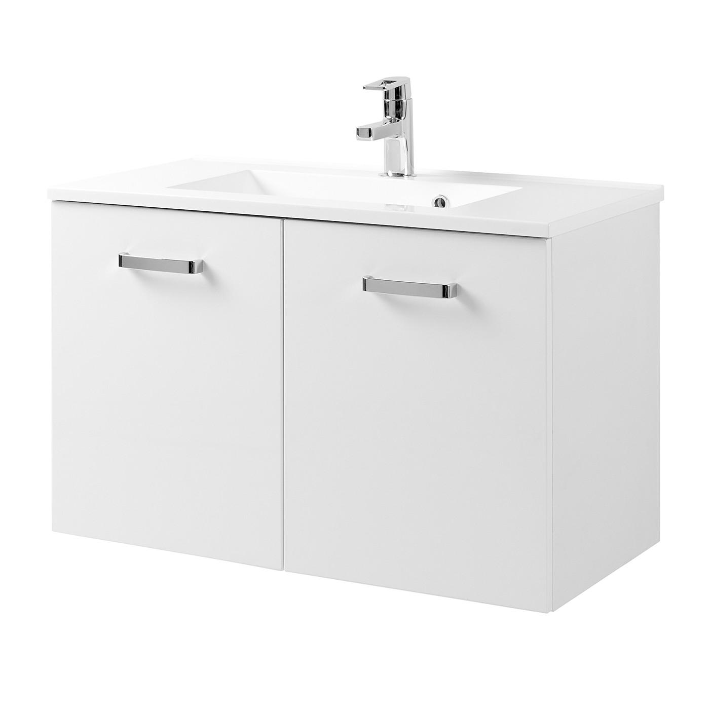 Mobile lavabo Zeehan - Bianco - 80 cm, Giessbach