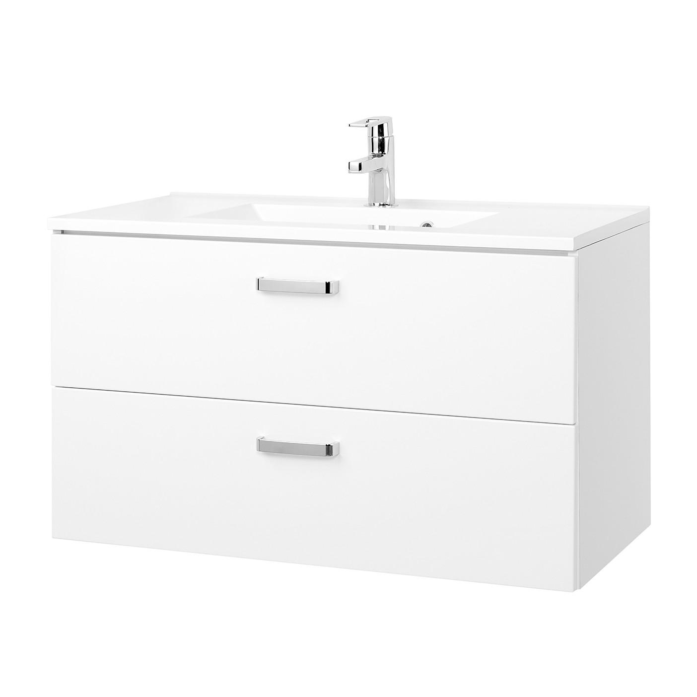 Mobile lavabo Zeehan - Bianco - 90 cm, Giessbach