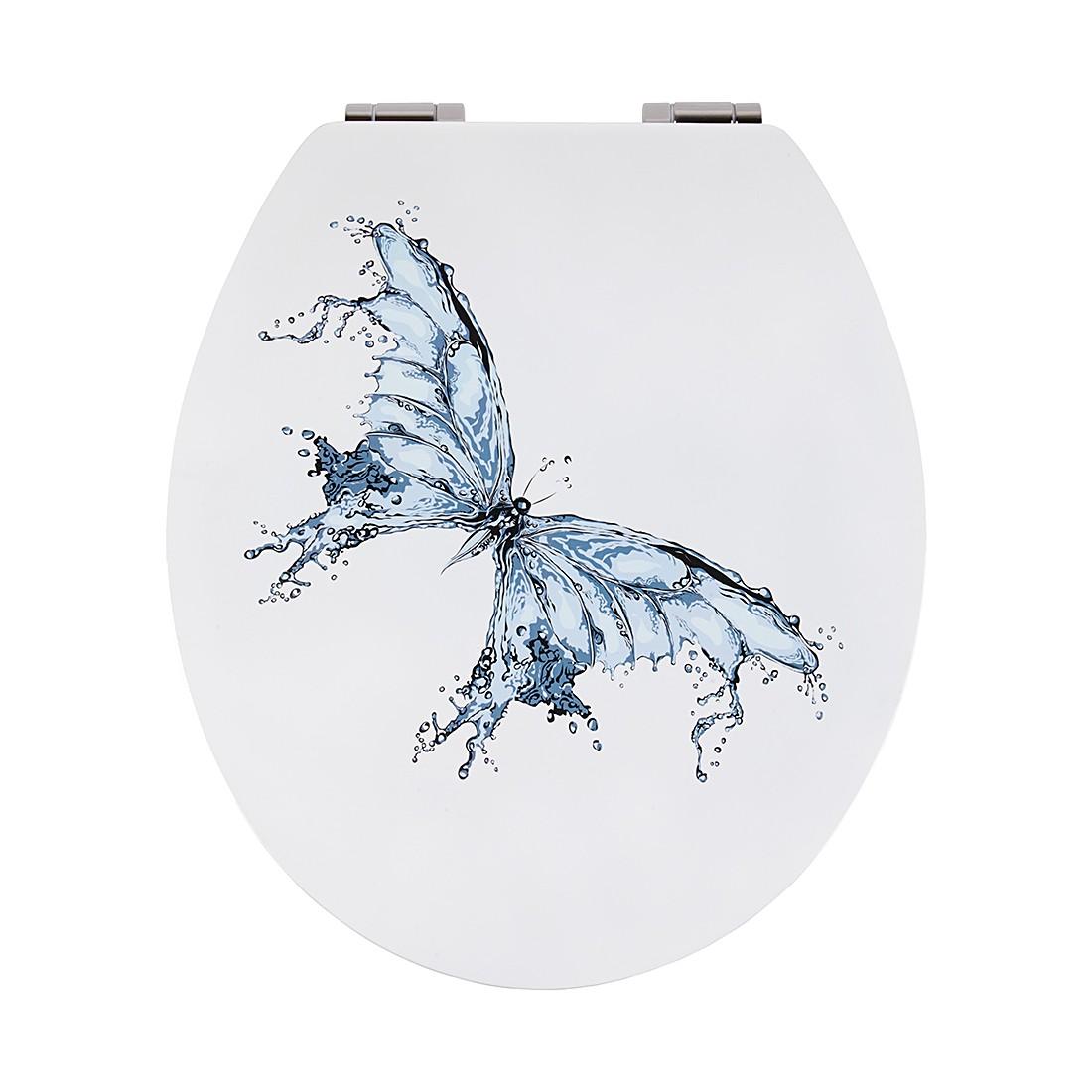 WC-Sitz Papilio - Weiß, mit Absenkautomatik, Sanwood