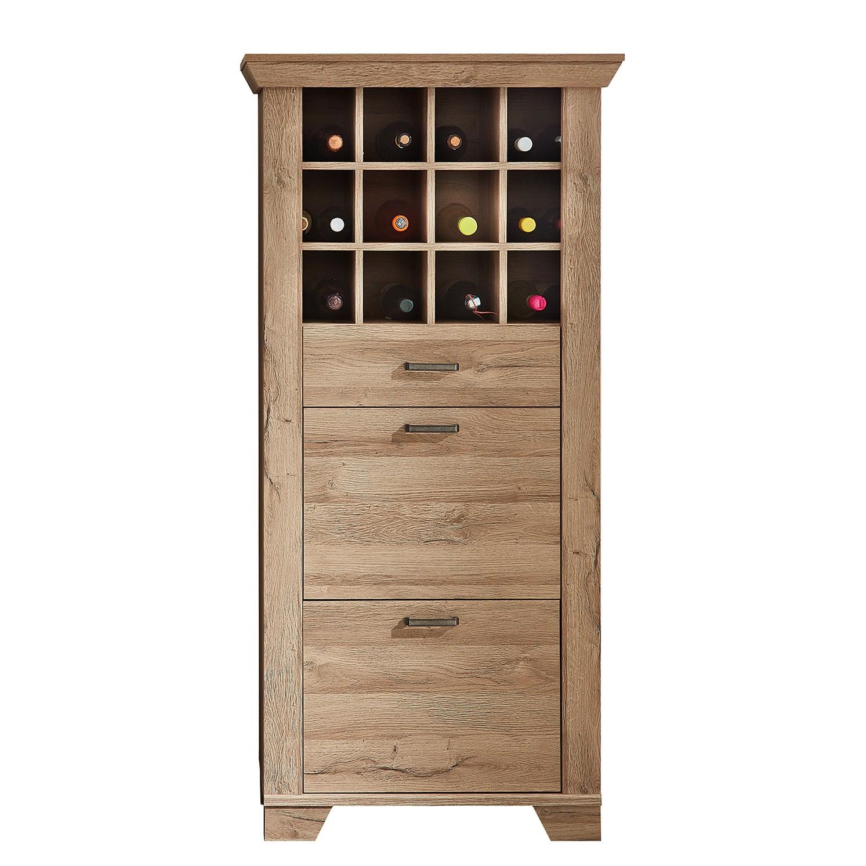 Armoire à vin Malone - Imitation chêne Sanremo, Ridgevalley