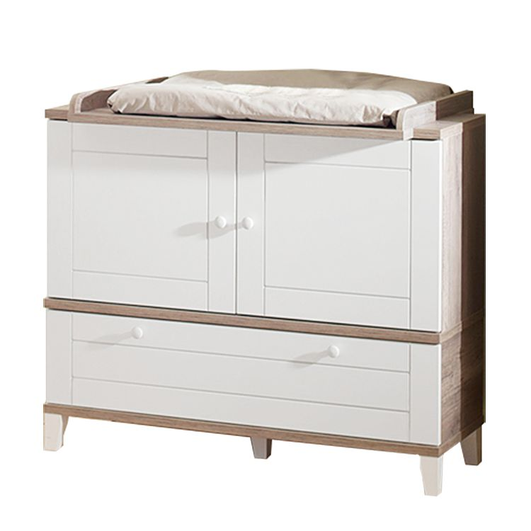 Commode Berti   eikenhoutkleurig mat wit_ Kids Club Collection
