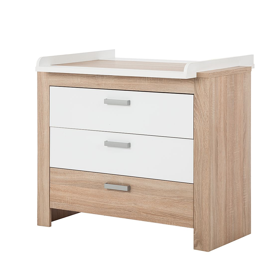Commode Bini   eikenhoutkleurig mat wit_ Kids Club Collection