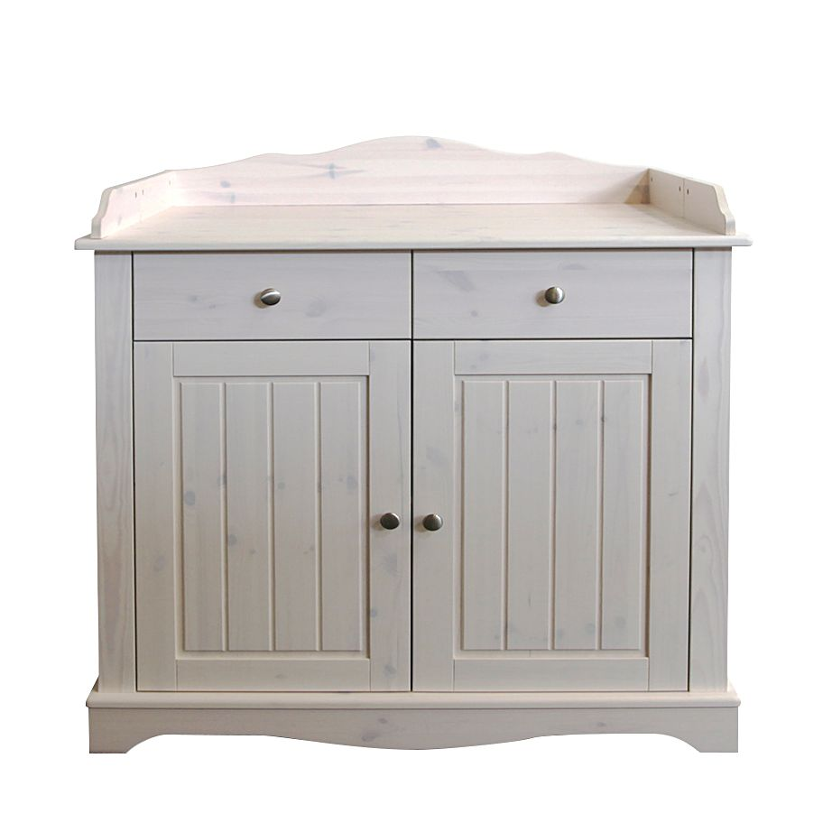 Babycommode Karlotta   massief grenenhout white wash   White Washed_ Steens