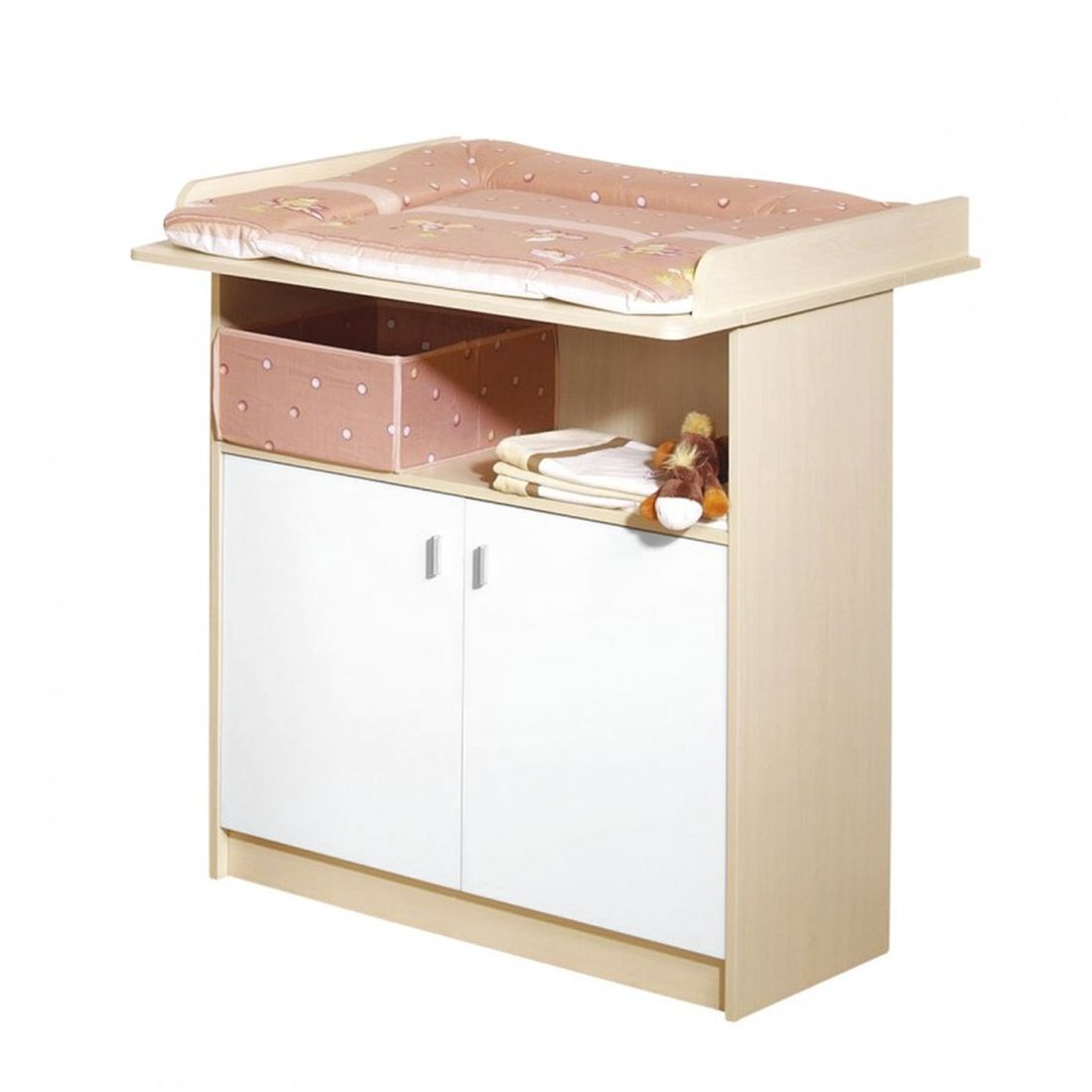 Commode Lena   ahorn look wit mdf hoogte 90 cm_ Roba