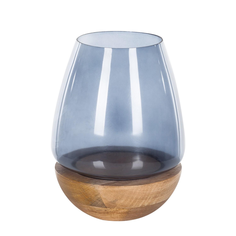 Windlicht Etienne - Mango massiv / Glas - 25