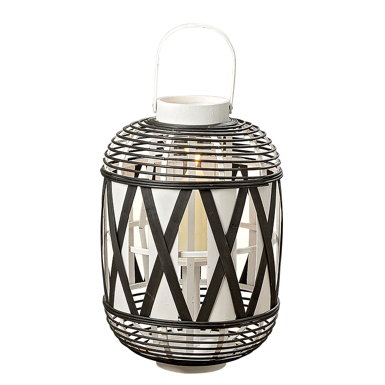 """Windlicht """"Zula"""" aus Bambus, schwarz/weiß (Kopie) Home24"""