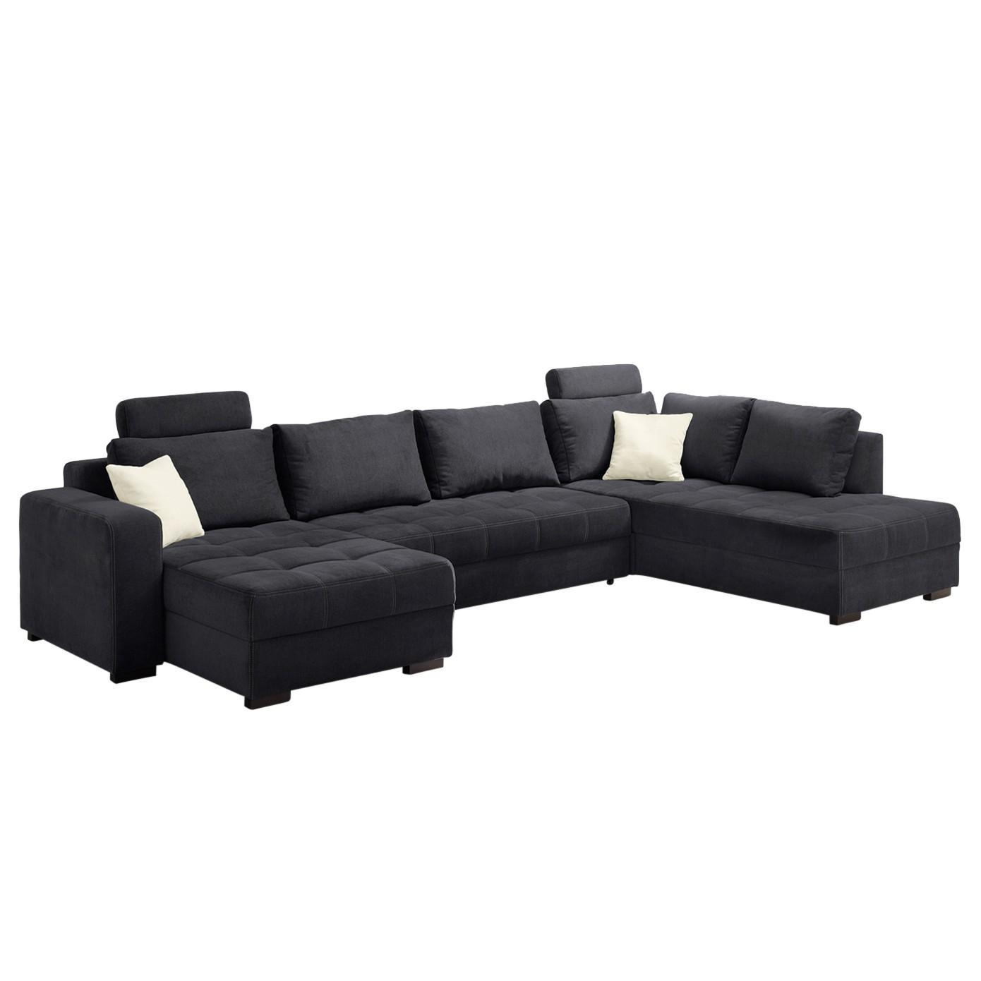 meridienne gauche velours boudoir noir prix et offres. Black Bedroom Furniture Sets. Home Design Ideas