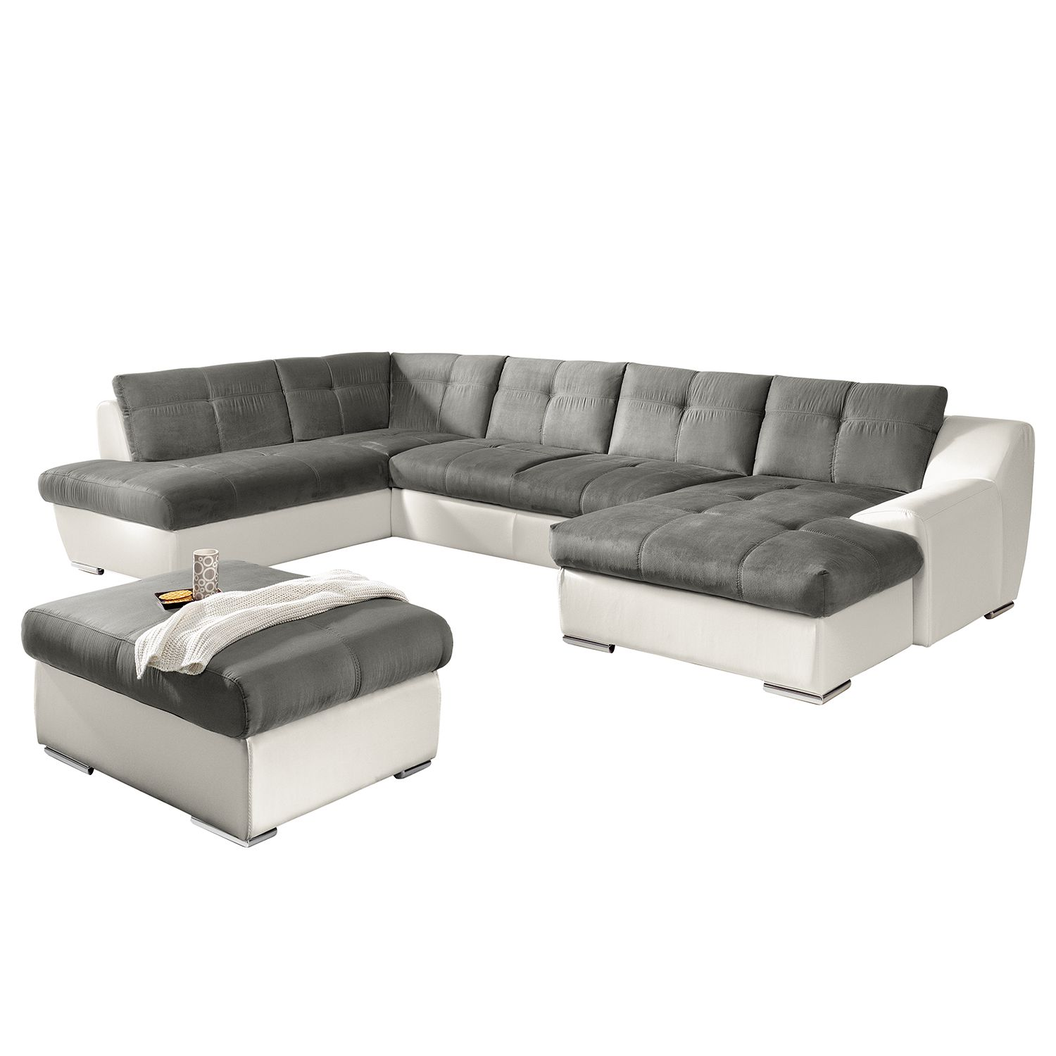 sofa mit ottomane das beste aus wohndesign und m bel. Black Bedroom Furniture Sets. Home Design Ideas