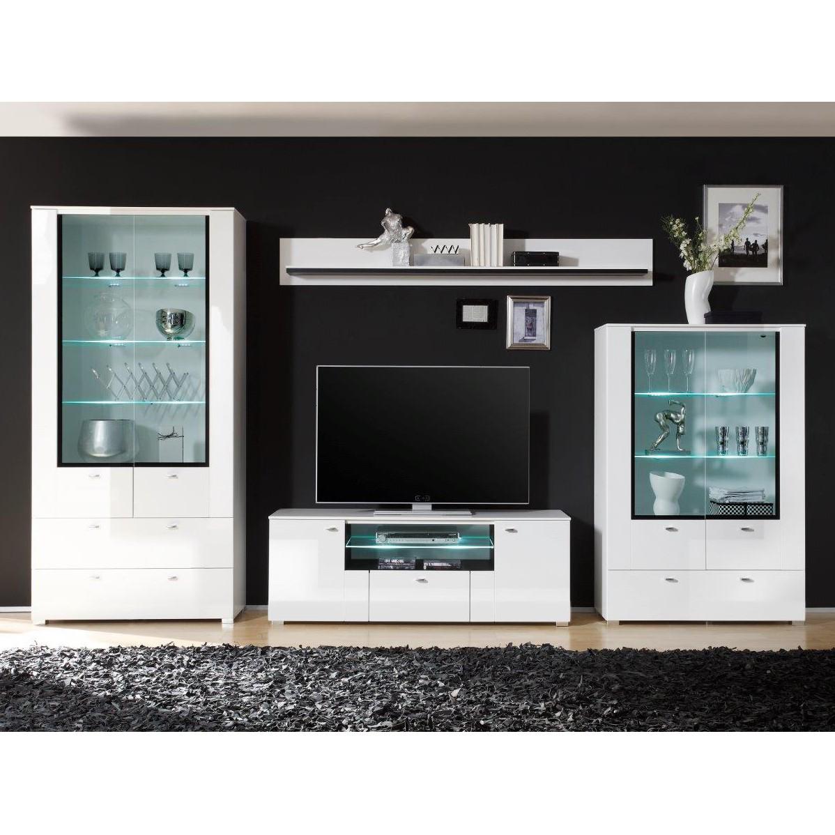 Weiß Hochglanz Wohnwand Preisvergleich • Die besten Angebote ...