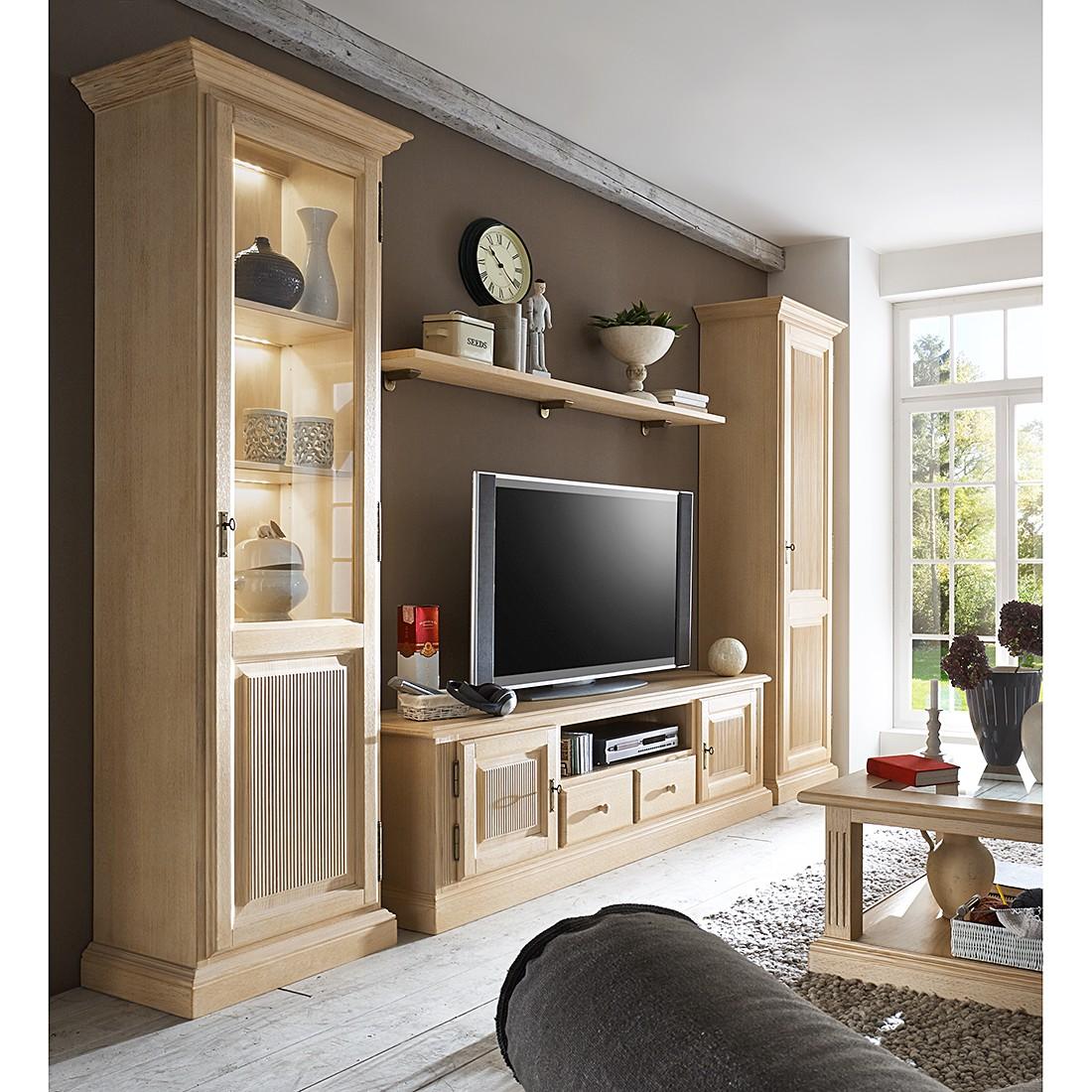Ensemble de meubles TV Breddin I (4 éléments) - Pin massif - Sans éclairage, Ridgevalley