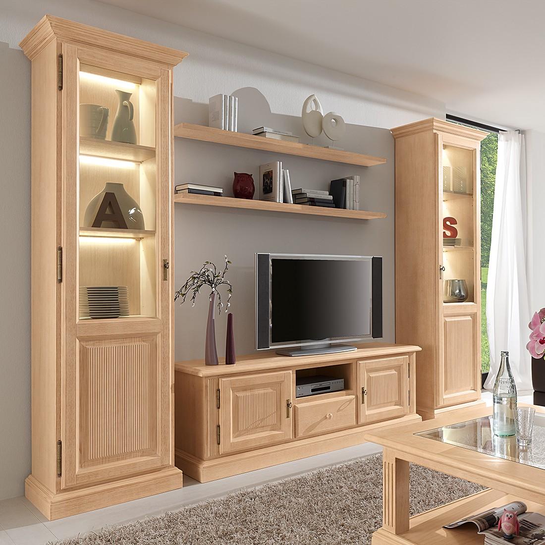 Ensemble de meubles TV Breddin (5 éléments) - Pin massif - Sans éclairage, Ridgevalley