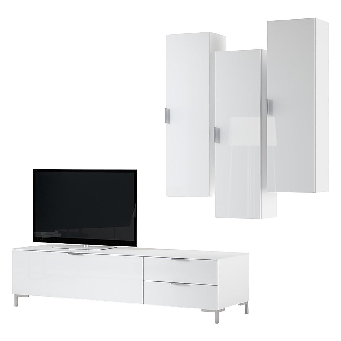 Ensemble de meubles TV Cleo I (4 éléments) - Blanc, Cs Schmal