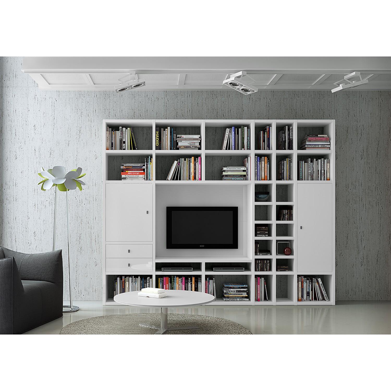 Ensemble de meubles TV Emporior II - Blanc brillant, Fredriks