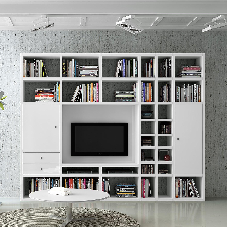 Ensemble de meubles TV Emporior II - Blanc, Fredriks