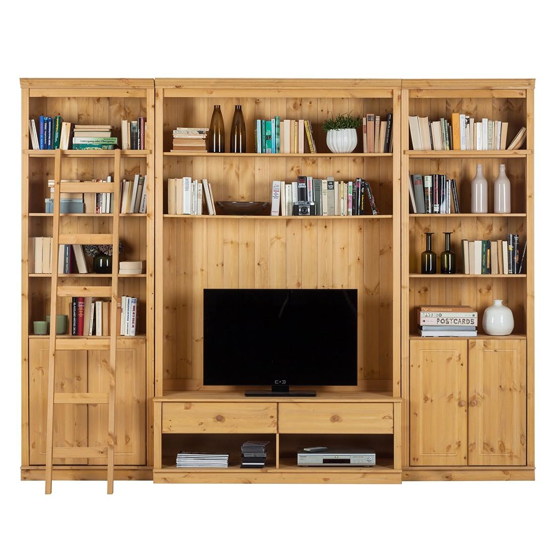 Home 24 - Ensemble de meubles tv lillehammer ii (3 éléments) - pin massif - epicéa, maison belfort