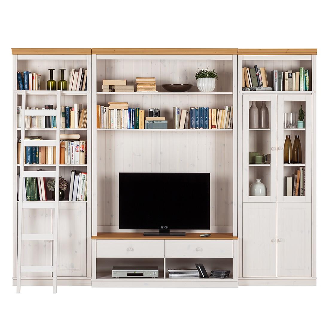 Home 24 - Ensemble de meubles tv lillehammer iii (3 éléments) - pin massif - epicéa blanc / epicéa, maison belfort