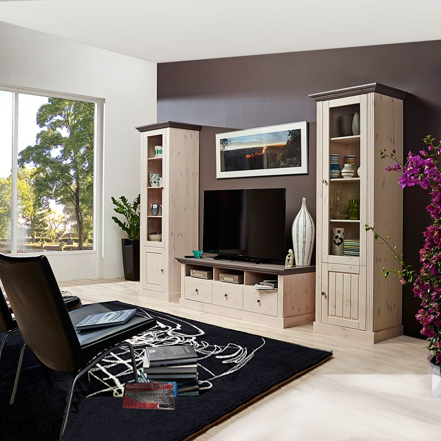 wohnwand weiss kiefer. Black Bedroom Furniture Sets. Home Design Ideas