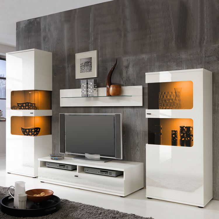 wohnwand monk i 4 teilig wei fredriks g nstig kaufen. Black Bedroom Furniture Sets. Home Design Ideas