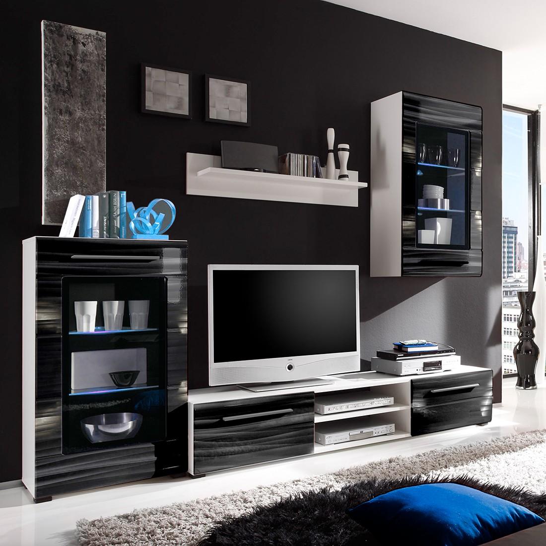 Wohnwand weiss schwarz preisvergleich die besten for Suche wohnwand