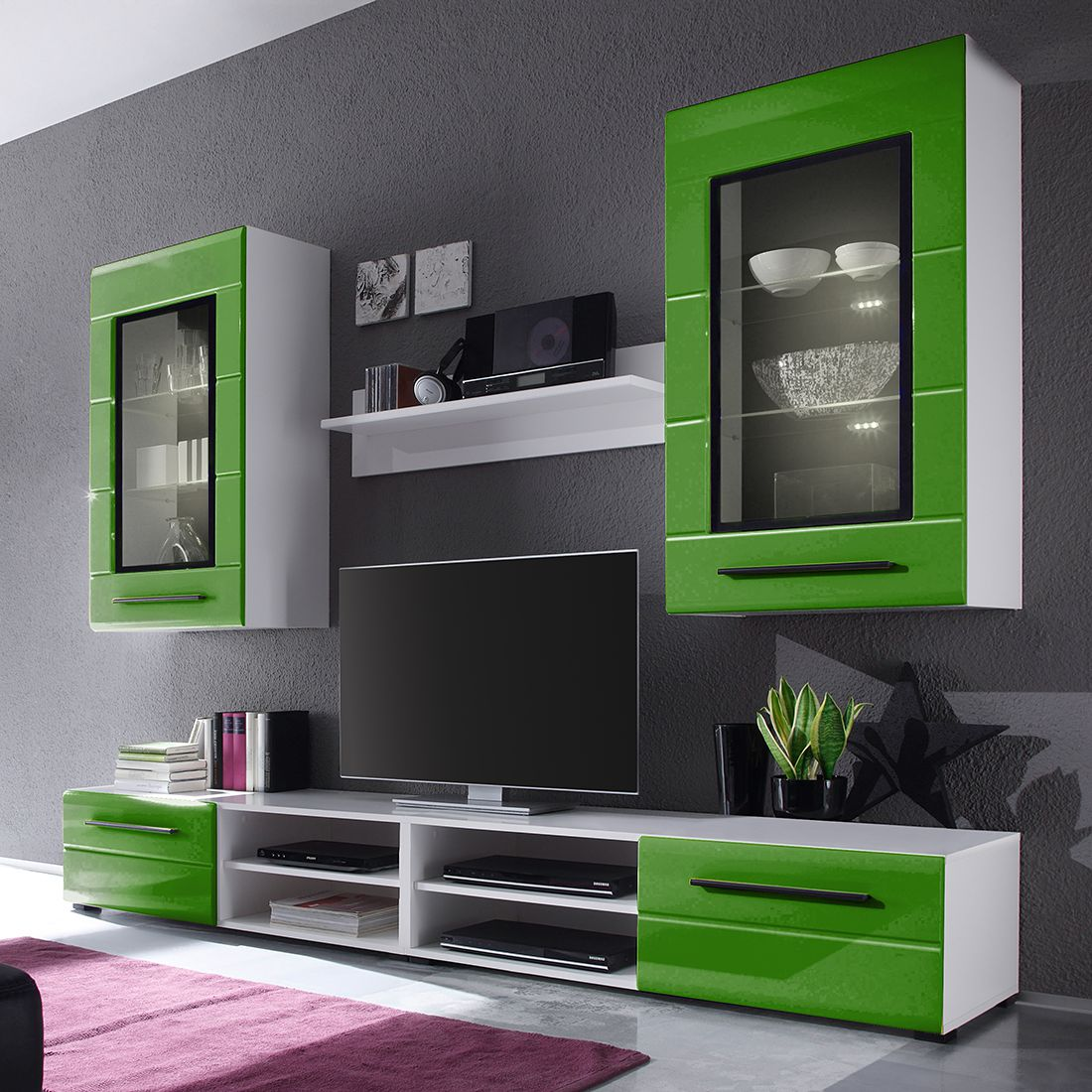 14 sparen wohnwand motley 4 teilig ab 299 99. Black Bedroom Furniture Sets. Home Design Ideas