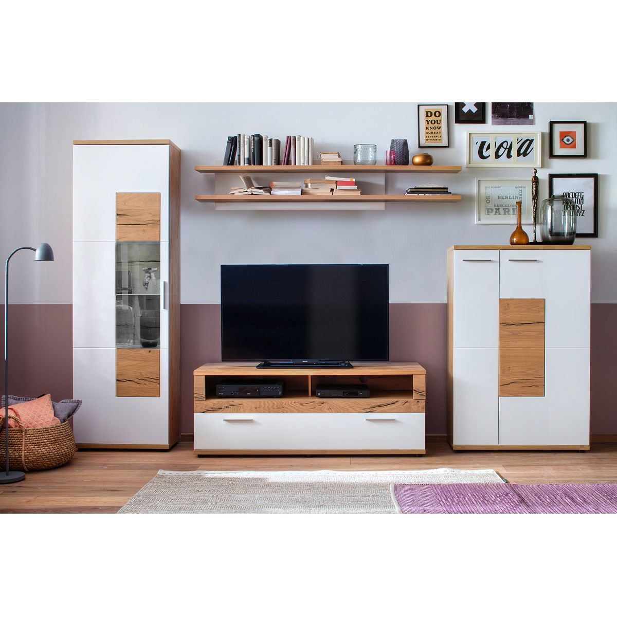 wohnwand wei preisvergleich die besten angebote online kaufen. Black Bedroom Furniture Sets. Home Design Ideas
