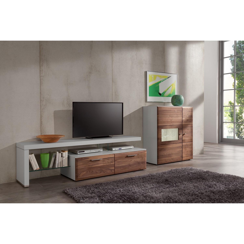 wohnwand nussbaum preisvergleich die besten angebote. Black Bedroom Furniture Sets. Home Design Ideas