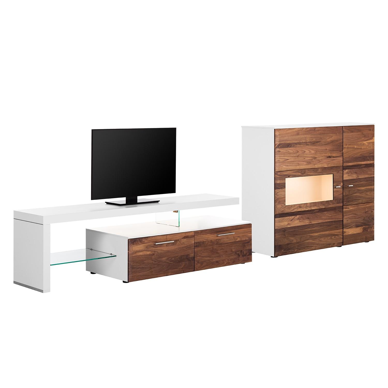 wohnwand nussbaum weiss preisvergleiche erfahrungsberichte und kauf bei nextag. Black Bedroom Furniture Sets. Home Design Ideas