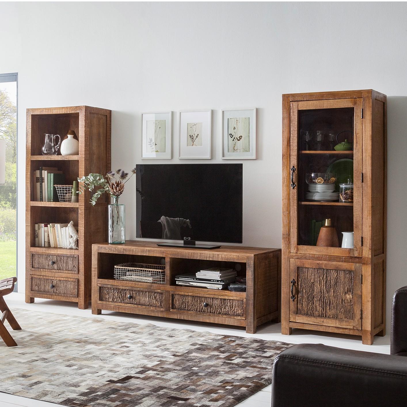 wohnwand massiv preisvergleich die besten angebote. Black Bedroom Furniture Sets. Home Design Ideas