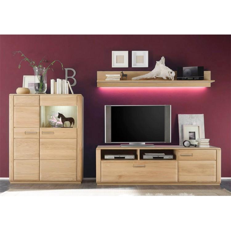 wohnwand structura 3 teilig eiche bianco ars natura bestellen. Black Bedroom Furniture Sets. Home Design Ideas