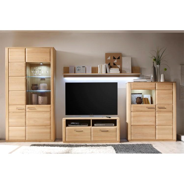 wohnwand front massiv eiche preisvergleiche erfahrungsberichte und kauf bei nextag. Black Bedroom Furniture Sets. Home Design Ideas