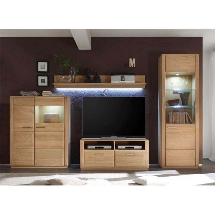 Ensemble de meubles TV Structura IV (4 éléments) - Chêne Bianco partiellement massif, Jung und Söhne