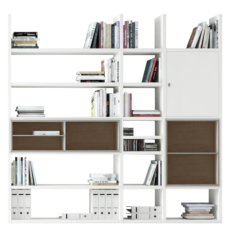 Etagère XL Emporior lV - Blanc / Imitation chêne de Sonoma - Sans éclairage - Blanc / Imitation chên